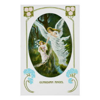 Guardian Angel and girl Poster