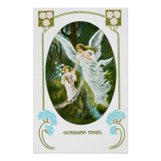 Guardian Angel and girl Posters