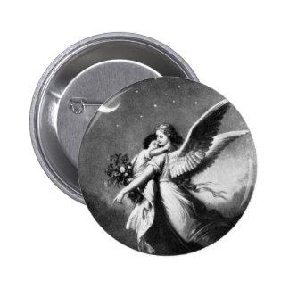 Guardian Angel At Night 6 Cm Round Badge