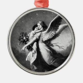Guardian Angel At Night Christmas Ornament
