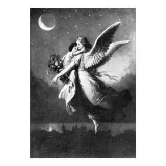 Guardian Angel At Night Photo Print