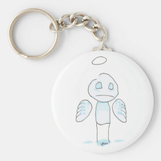 guardian angel basic round button key ring