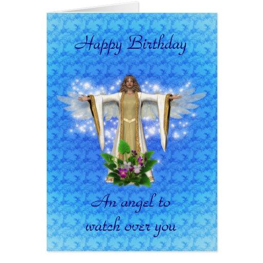 Guardian Angel Birthday Card