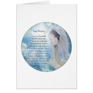 Guardian Angel Blessings Greeting Card