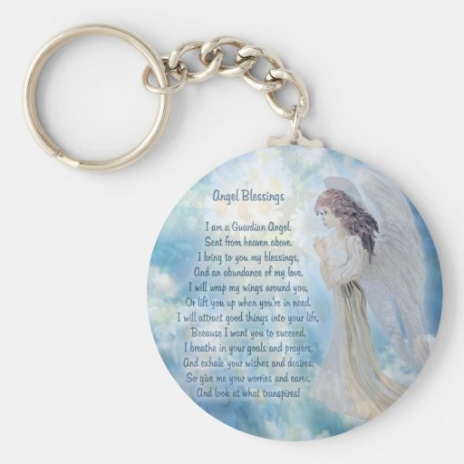 Guardian Angel Blessings Keychain