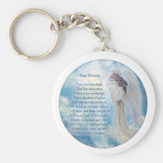 Guardian Angel Blessings Key Ring