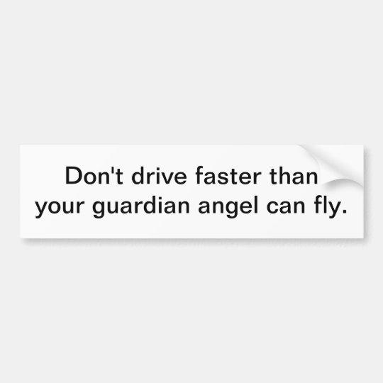 Guardian angel - bumper sticker
