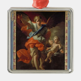 Guardian Angel, c.1685-94 Silver-Colored Square Decoration
