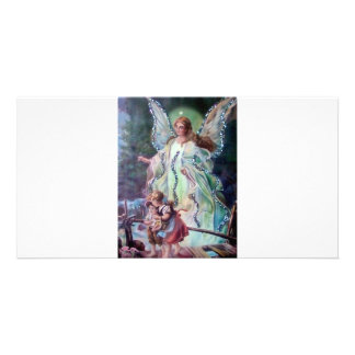 GUARDIAN ANGEL c. 1900 Card