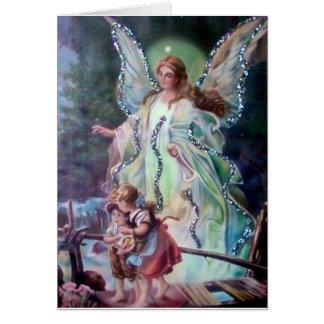 GUARDIAN ANGEL c. 1900 Greeting Card