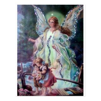GUARDIAN ANGEL c. 1900 Postcard