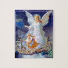 Guardian Angel, Children and Bridge Jigsaw Puzzle