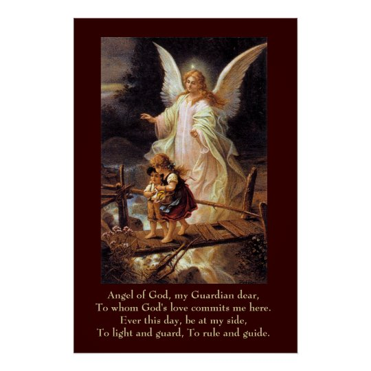 Guardian Angel Children Bridge Poster Zazzlecouk