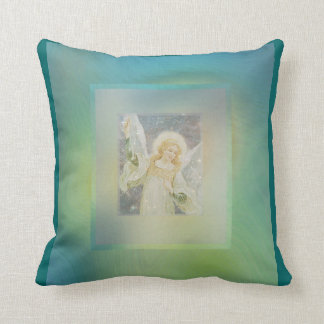Guardian Angel Cool Green Blue Colors Pillow