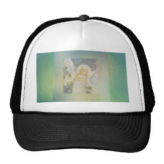 Guardian Angel Cool Green Blue Colors Mesh Hat