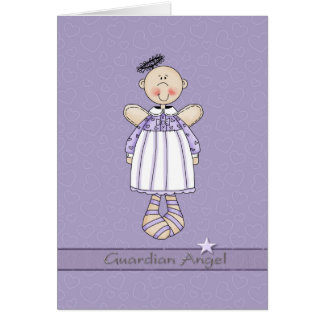Guardian Angel for Cancer patient Greeting Card