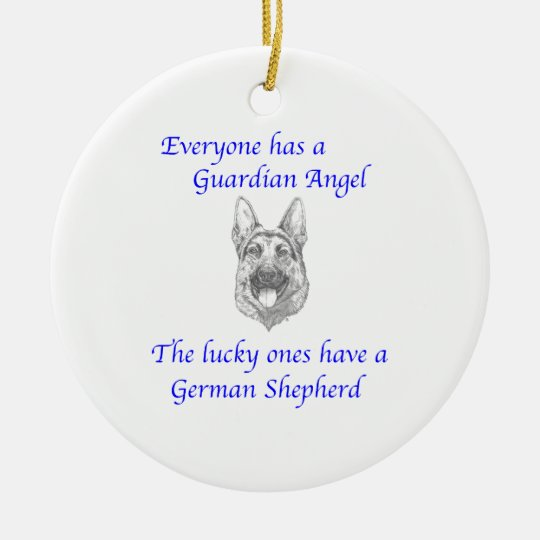 GUARDIAN ANGEL GERMAN SHEPHERD CHRISTMAS ORNAMENT