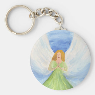 Guardian Angel home decor Basic Round Button Key Ring