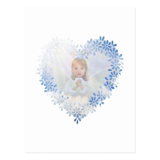 Guardian Angel in a Heart Postcard