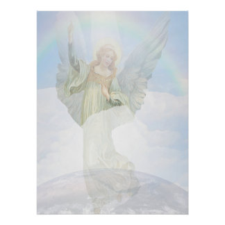 Guardian Angel in the Clouds Poster