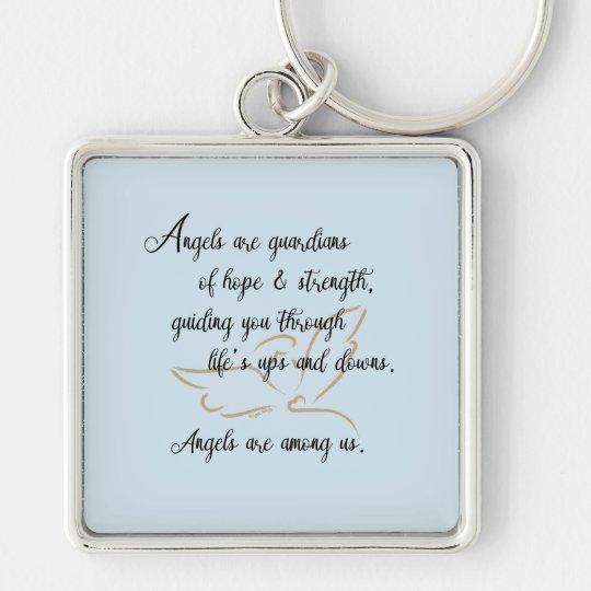 Guardian angel key chain key ring