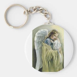 Guardian angel key ring