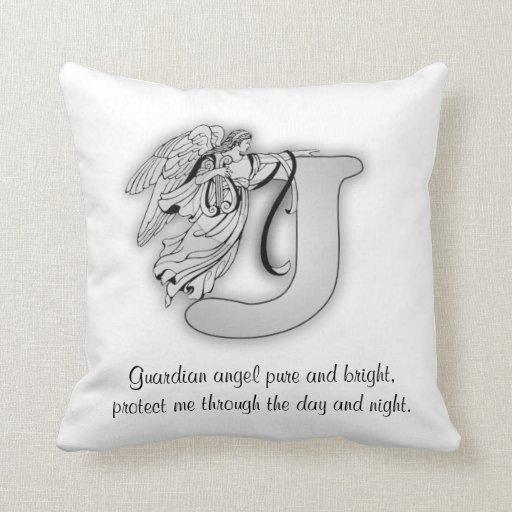 Guardian Angel Letter J Pillow