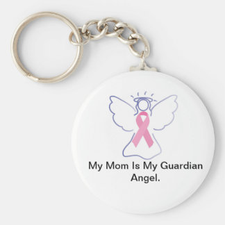 Guardian Angel Mom Basic Round Button Key Ring