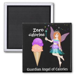 Guardian Angel of Calories by SRF Square Magnet