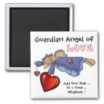 Guardian Angel of Love by SRF Square Magnet