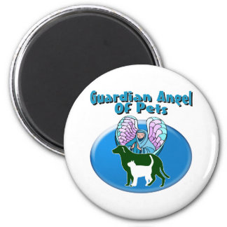 Guardian Angel Of Pets 6 Cm Round Magnet