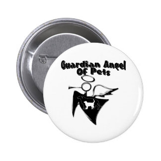 Guardian Angel Of Pets 6 Cm Round Badge