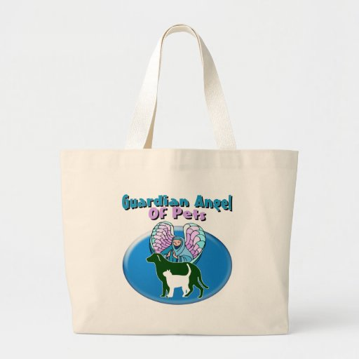 Guardian Angel Of Pets Tote Bags