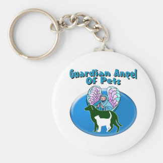 Guardian Angel Of Pets Basic Round Button Key Ring