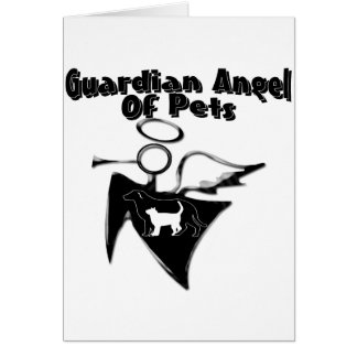 Guardian Angel Of Pets Greeting Card