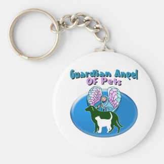 Guardian Angel Of Pets Keychains