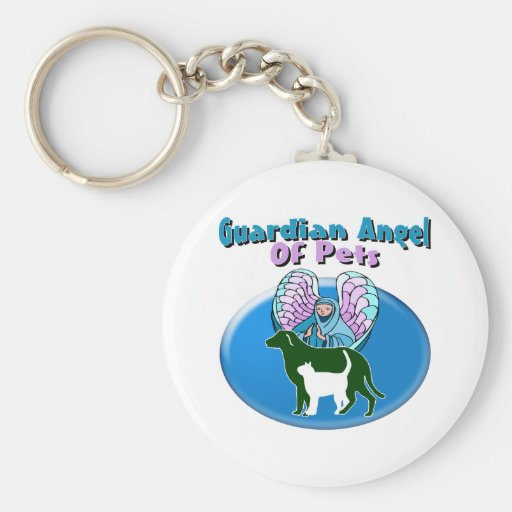 Guardian Angel Of Pets Key Chains