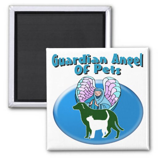 Guardian Angel Of Pets Refrigerator Magnets