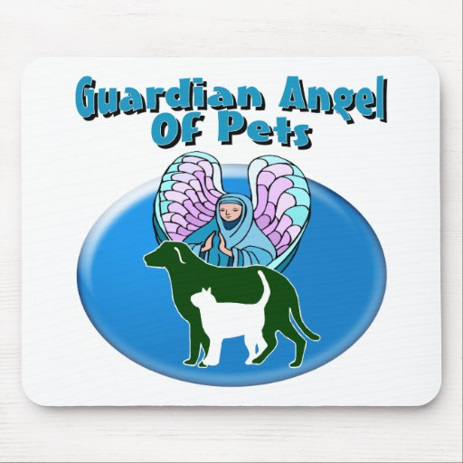 Guardian Angel Of Pets Mouse Pads