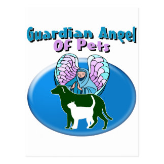 Guardian Angel Of Pets Postcard