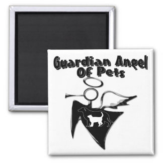 Guardian Angel Of Pets Square Magnet