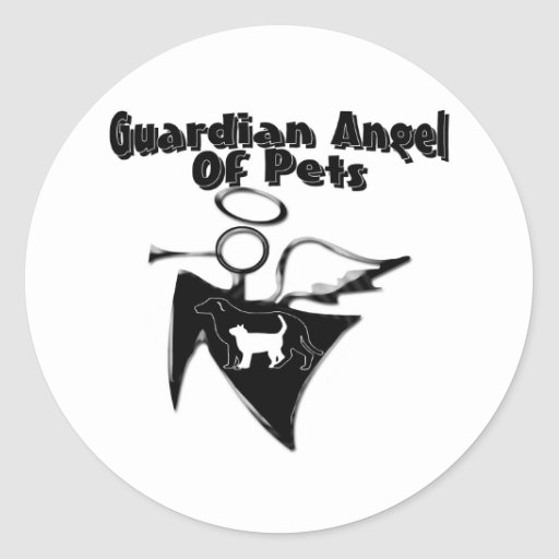 Guardian Angel Of Pets Stickers
