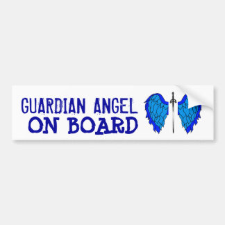 GUARDIAN ANGEL ON BOARD BUMPER STICKER