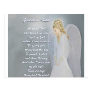 Guardian Angel Poem Postcard