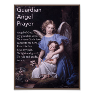 Guardian Angel Prayer for Girls Poster