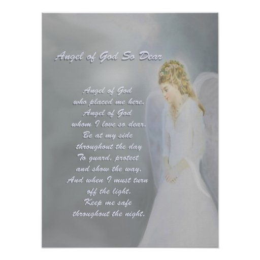 Guardian Angel Prayer Poster