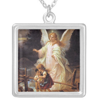 Guardian Angel Silver Plated Necklace