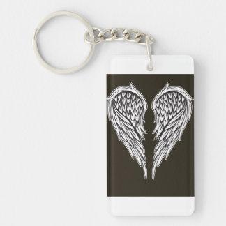 Guardian angel Single-Sided rectangular acrylic key ring