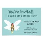Guardian Angel Sock Monkey Party Invitations