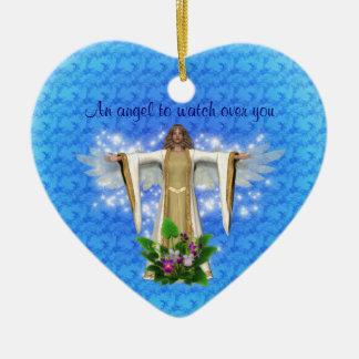 Guardian Angel Watch Over Heart Ornament